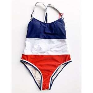 Xhiliration Red, White, and Blue Swimsuit